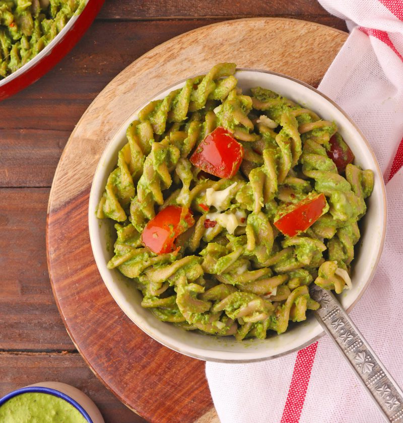 Spinach pesto pasta recipe