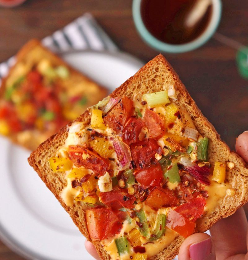 Cheese Toast With Veggies 2