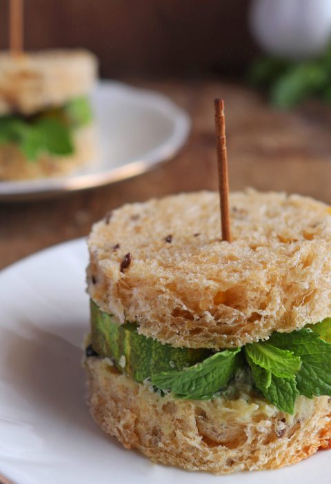 Vegan Cucumber & Mint Tea Sandwich