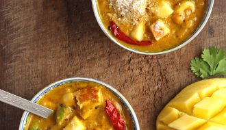 Mango Coconut Tofu Curry Vegan