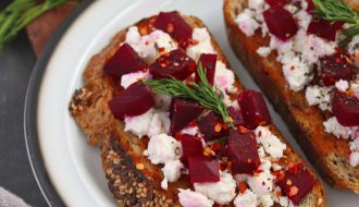 Pickled Beetroot And Feta Toast