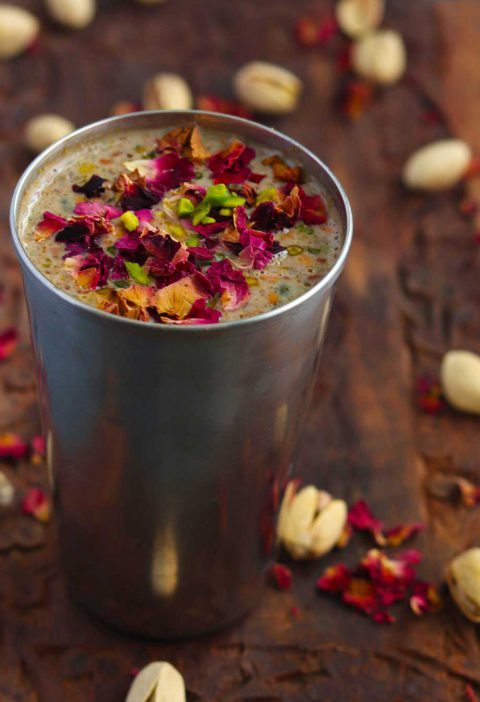 Rose Pistachio Milk