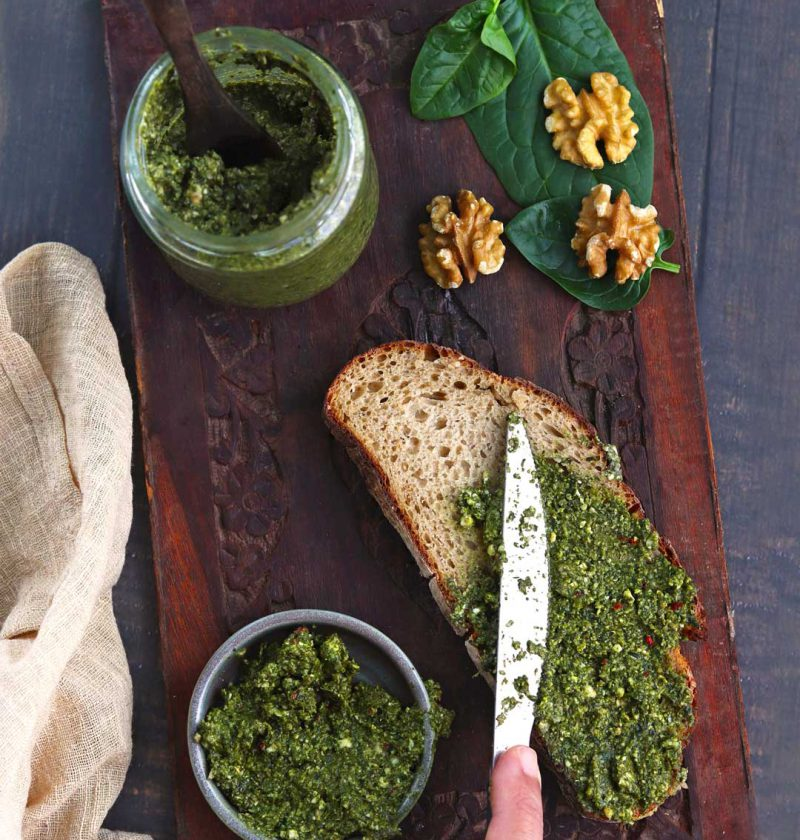 Spinach Walnut Sandwich Spread