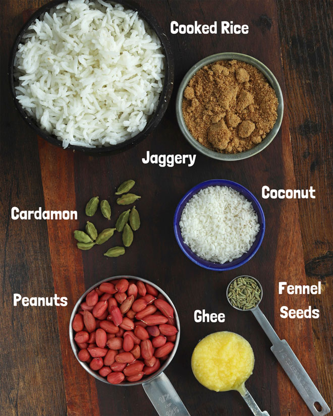 new-Peanut Sweet Rice With Coconut Ingredients