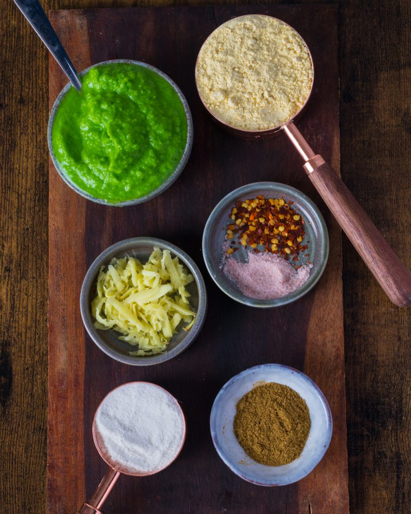 Ingredients used in Matar Cheela Recipe